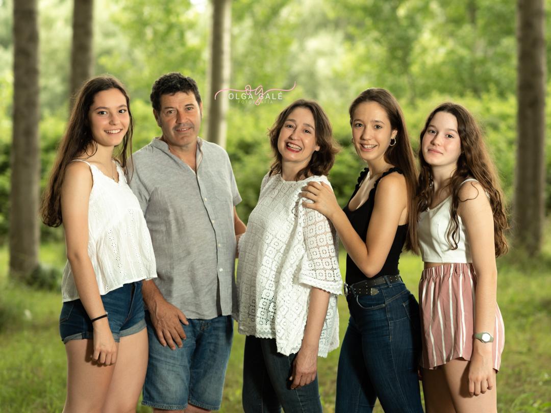 fotografia de familia en exterior