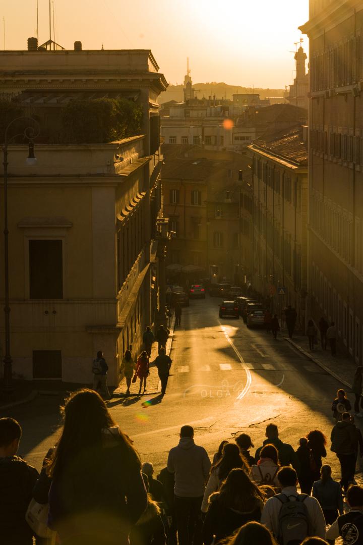 Una calle cualquiera en Roma